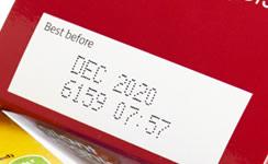 化粧箱に賞味期限を印字(マーキング)