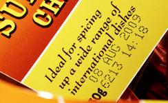 紙帯に製造日・消費期限を印字(マーキング)