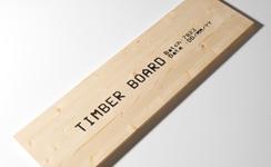 木材に商品名・製造番号を印字