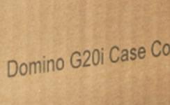 段ボール箱に製品名を印字 (マーキング)