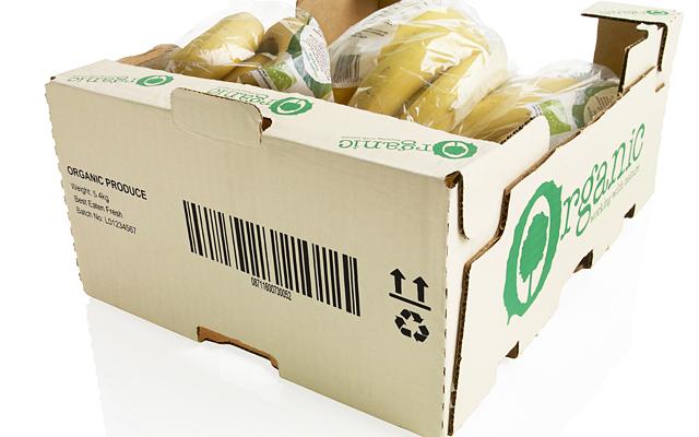 ダンボールに製品名、ロゴ、消費期限などを印字(マーキング)